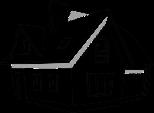 kreslený dům